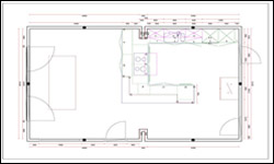 Kitchen Planning visual plan view