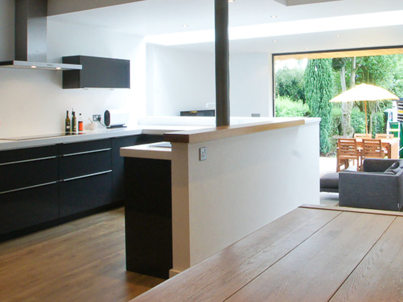 open plan kitchen conversion leeds